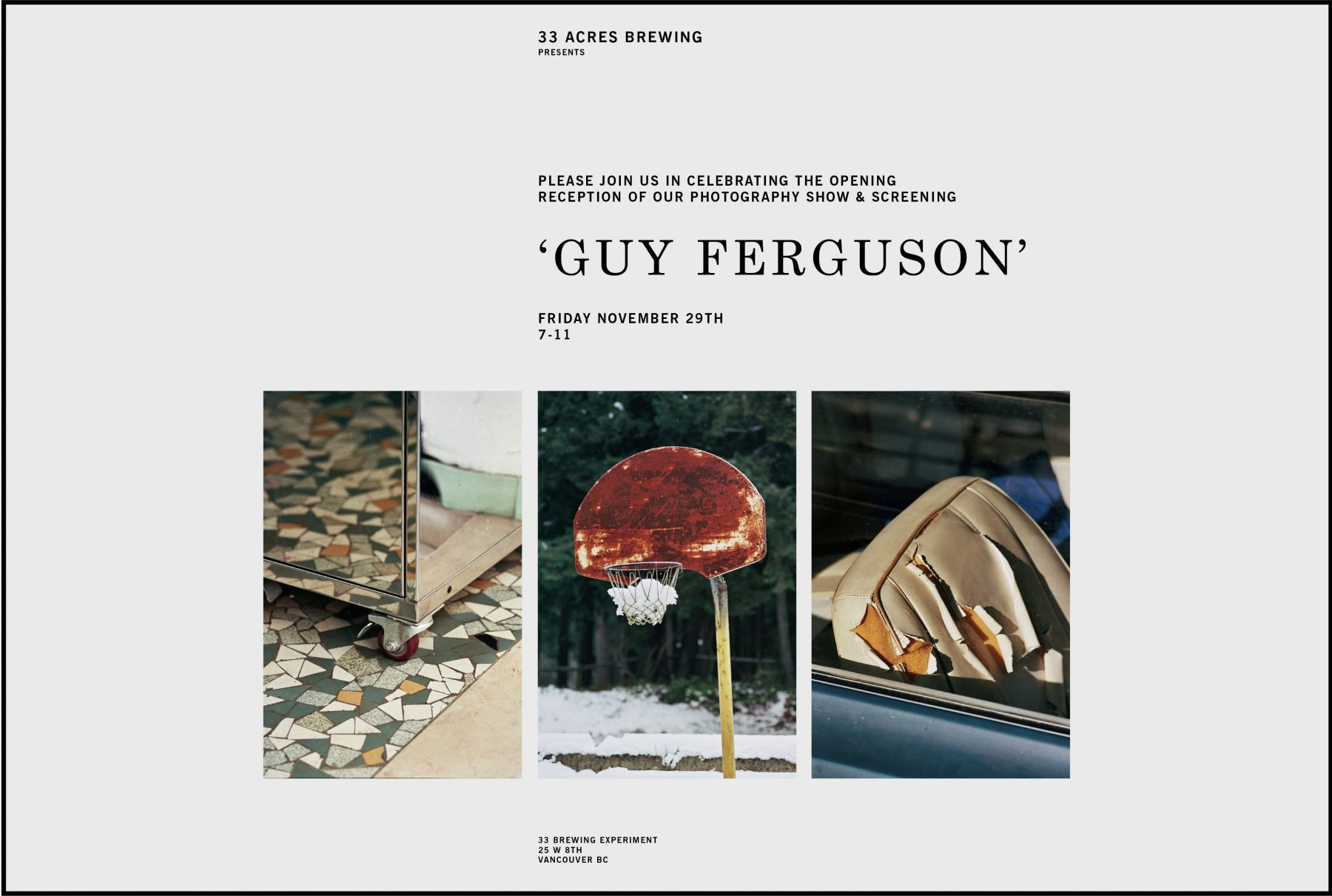PHOTOGRAPHY SHOW : GUY FERGUSON